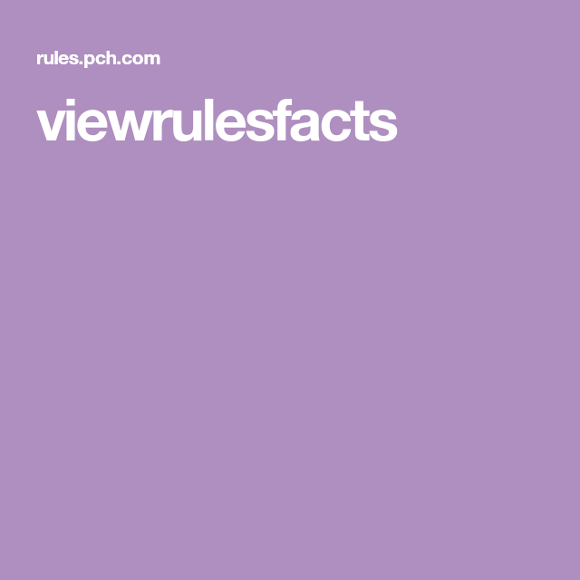 Viewrulesfacts (With Images)