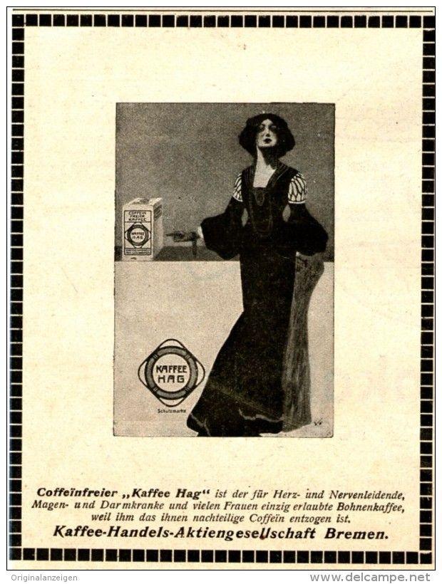 Original-Werbung/ Anzeige 1910 - KAFFEE HAG - ca. 90 x 115 mm