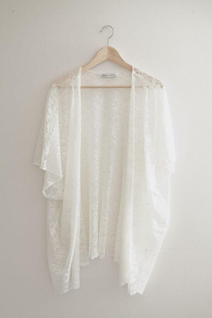 Bohemian Ivory Lace Kimono Cardigan | shop velvet moon | Pinterest ...