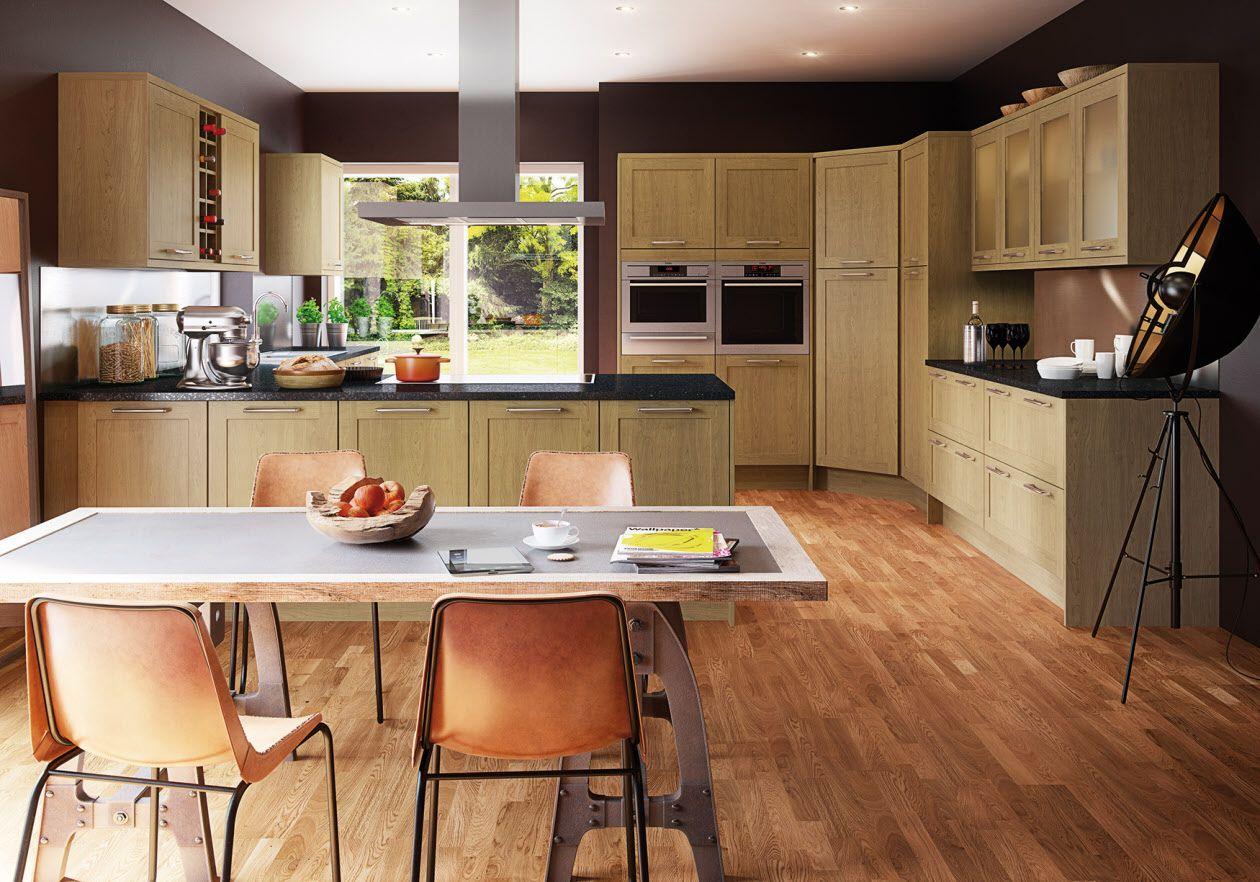 Winchester Oak Fitted kitchen designs, Kitchen, Kitchen