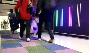 Tiles That Generate Energy When People Walk Over Them Are Totally Lit Kinetic Energy Tiles Tile Floor