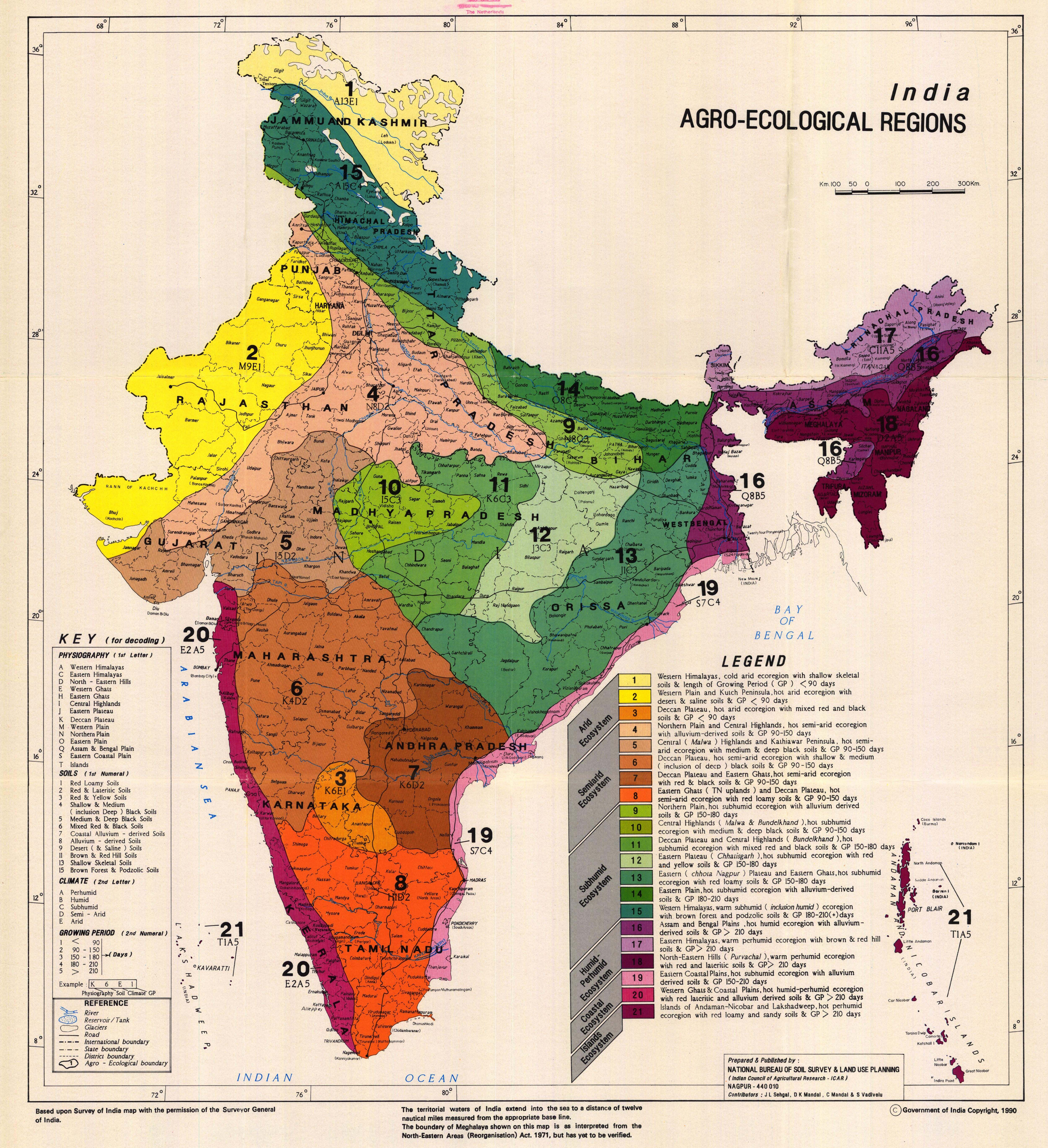 Agro ecological soil map of india cartography pinterest for Three uses of soil