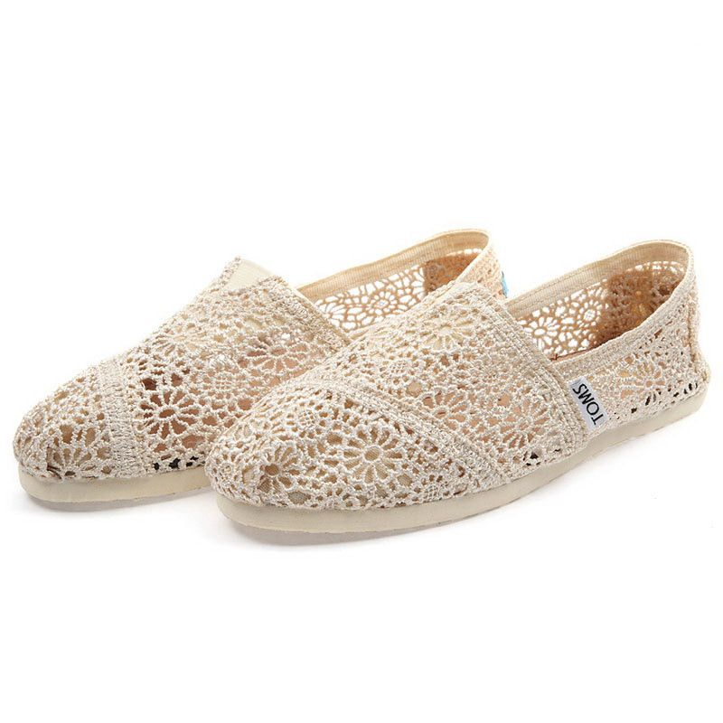 Toms Apricot Crochet Shoes