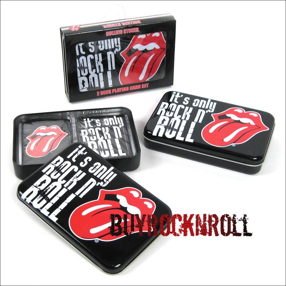 """Rolling Stones """"It's Only Rock N Roll"""" 2 deck playing card"""