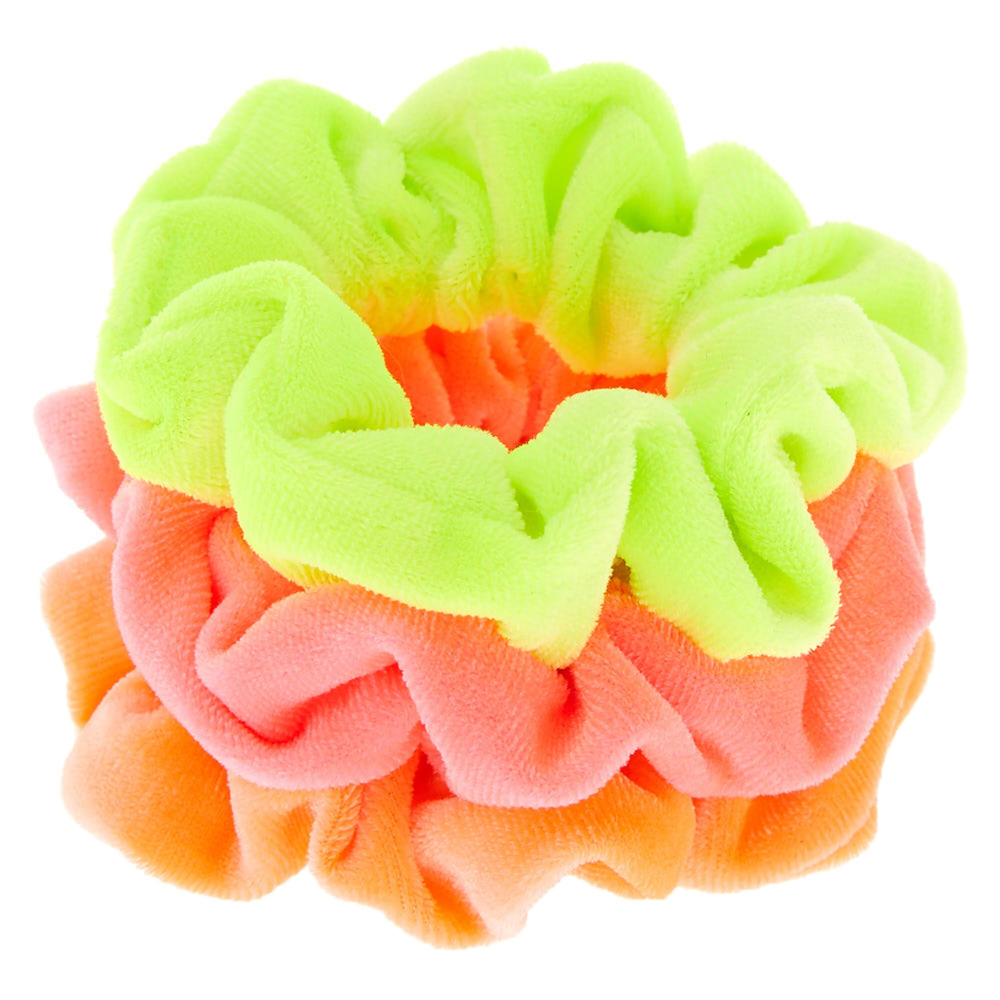 Claire's Club Neon Velvet Scrunchies 3 Pack in 2019