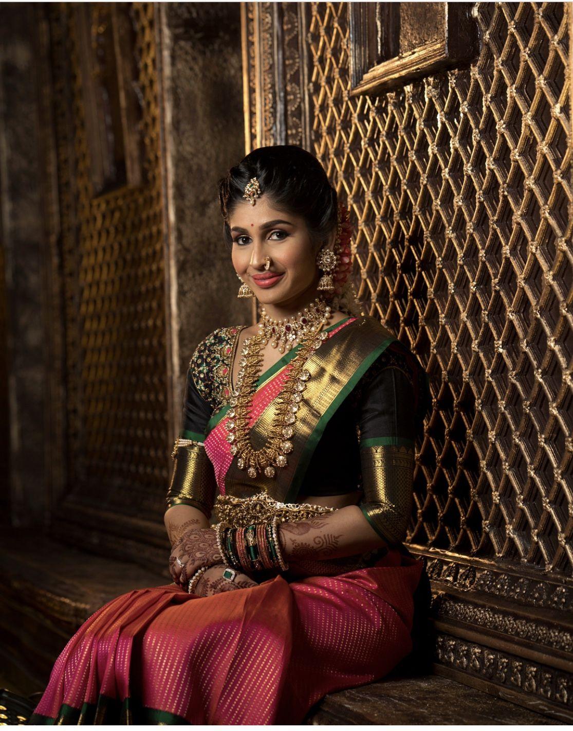 Saree jewellery images south indian pattu saree ideas  necklaces  pinterest  saree
