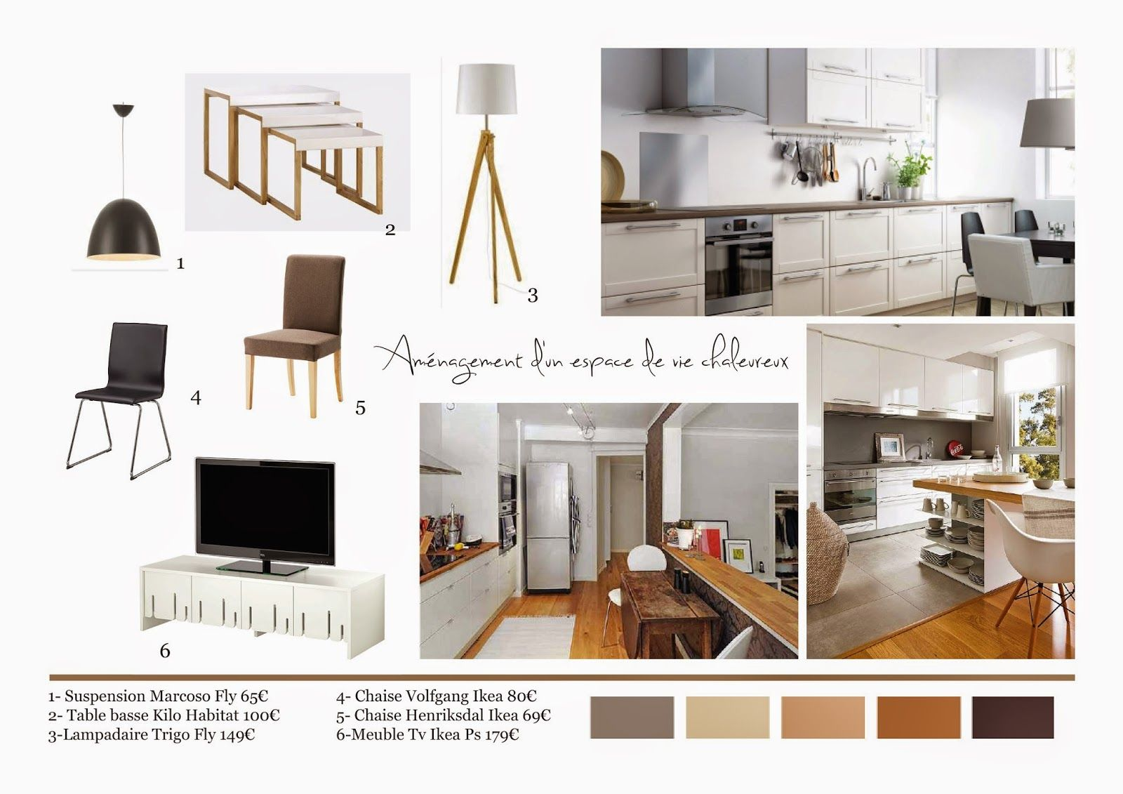 Carnet shopping planche tendance cuisine ouverte sur le salon planches for Deco salon cuisine