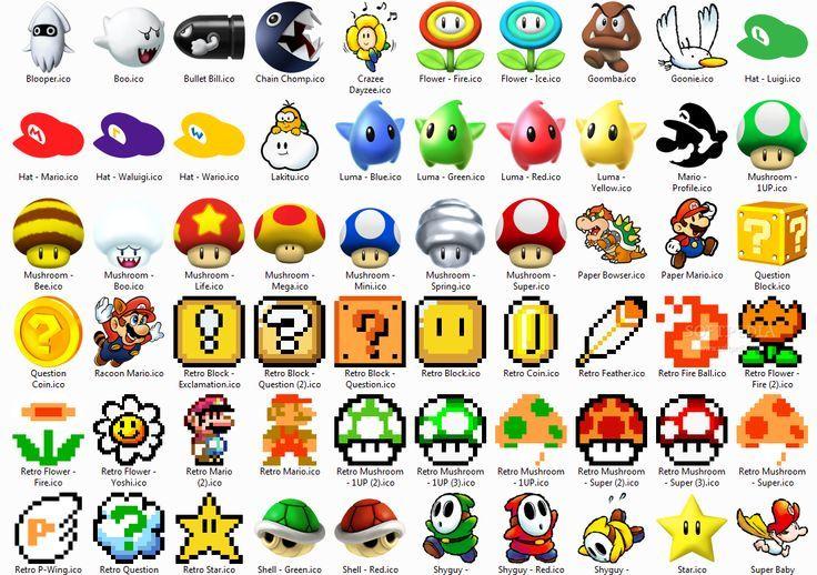 video game symbols Google Search Mario tattoo, Super