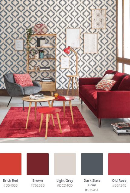 Materiali e colori da abbinare al rosso per arredare casa for Combinazioni colori arredamento