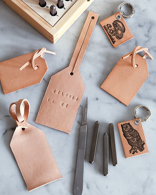 DIY Leather Bag & Luggage Tags | Sweet Paul Magazine