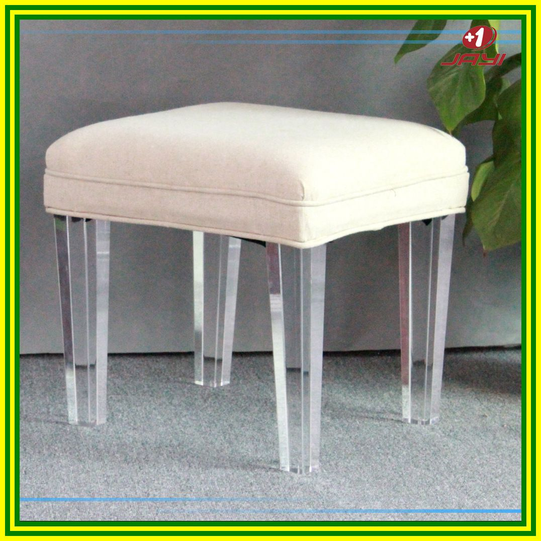 clear vanity chair with wheels