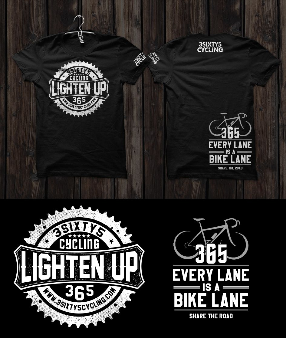 Tshirt design for 3sixty5 Cycling by OЯiGiNΛLPIXEL