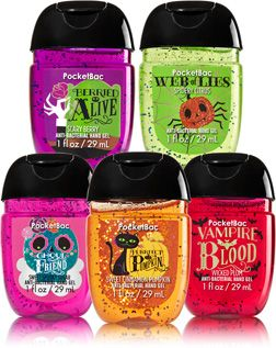 Halloween Fun 5 Pack Pocketbac Sanitizers Soap Sanitizer Bath