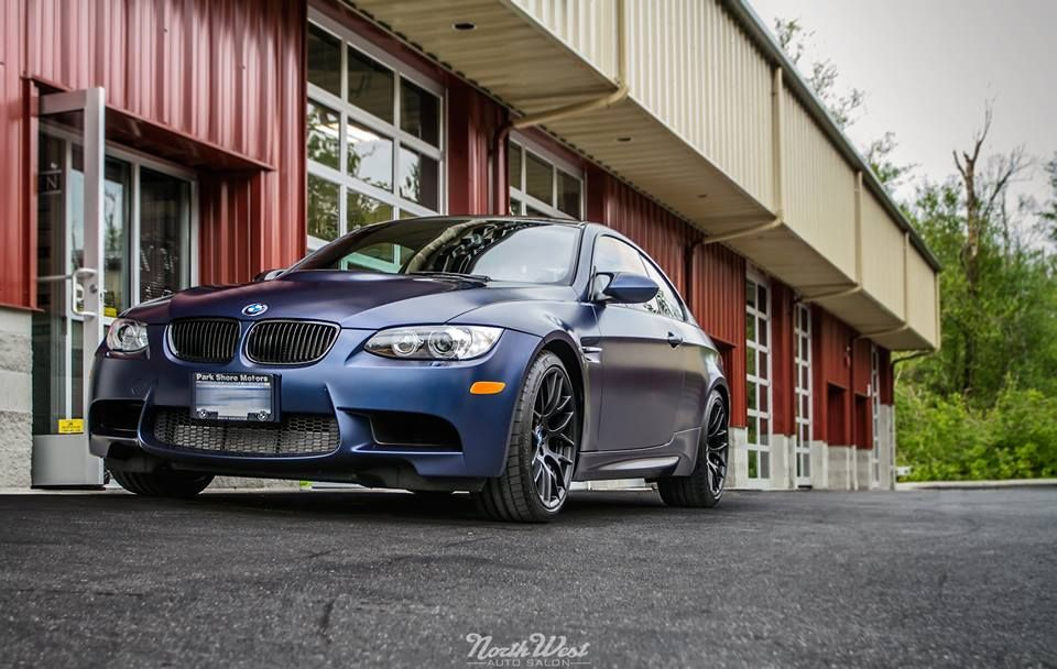 This Stunning Frozen Dark Blue Bmw M3 E92 Dropped In For A New Car