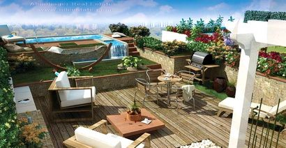I Villa Roof Garden For Sale In Mountain View Giza Penthouse For Sale Roof Garden Apartment Garden