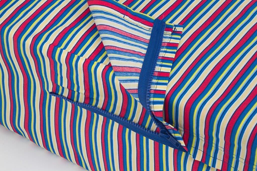 Blue Stripped Kids Zip Sheets Blue, Zip, Kids