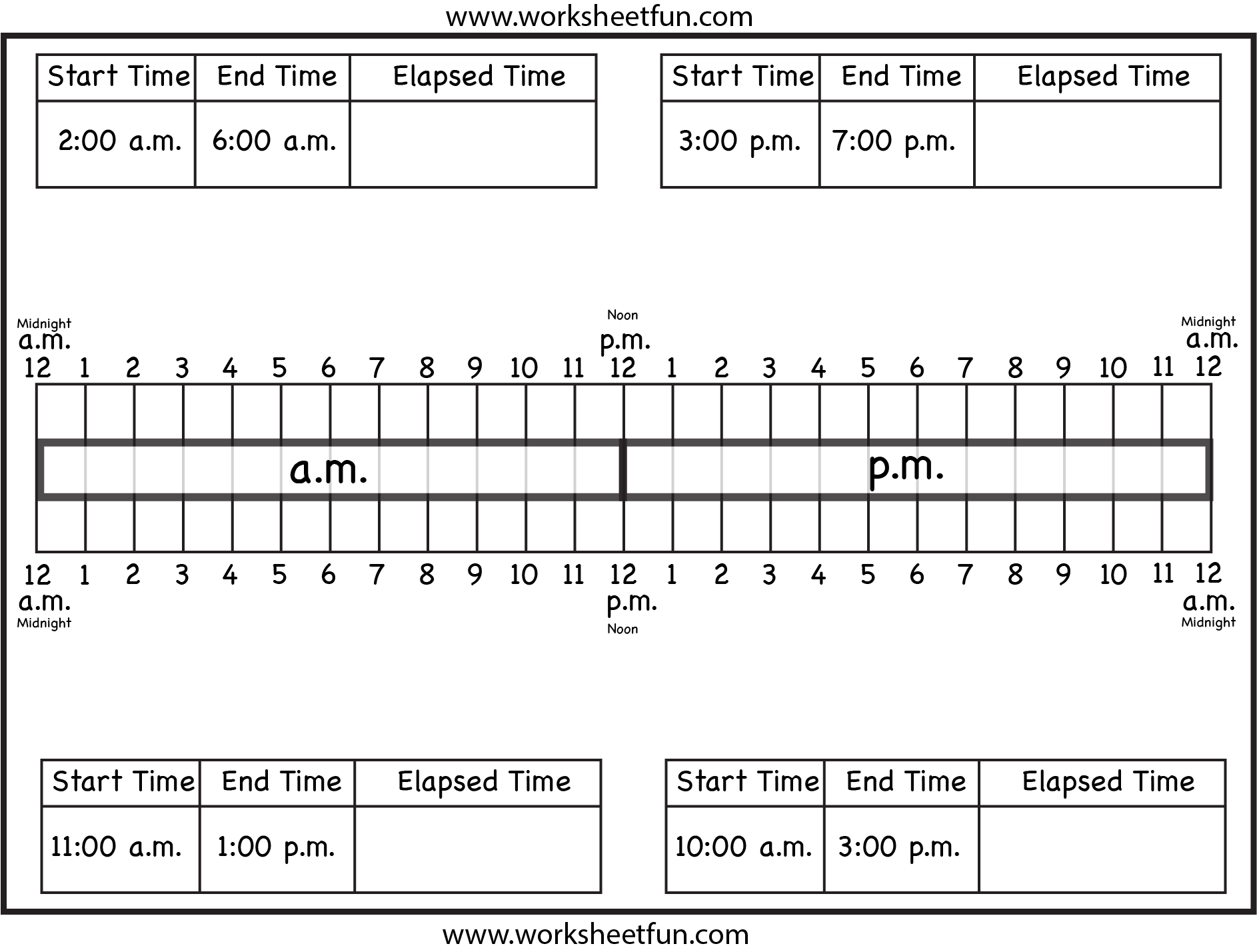 medium resolution of Calculate Elapsed Time – Ten Worksheets   Time worksheets