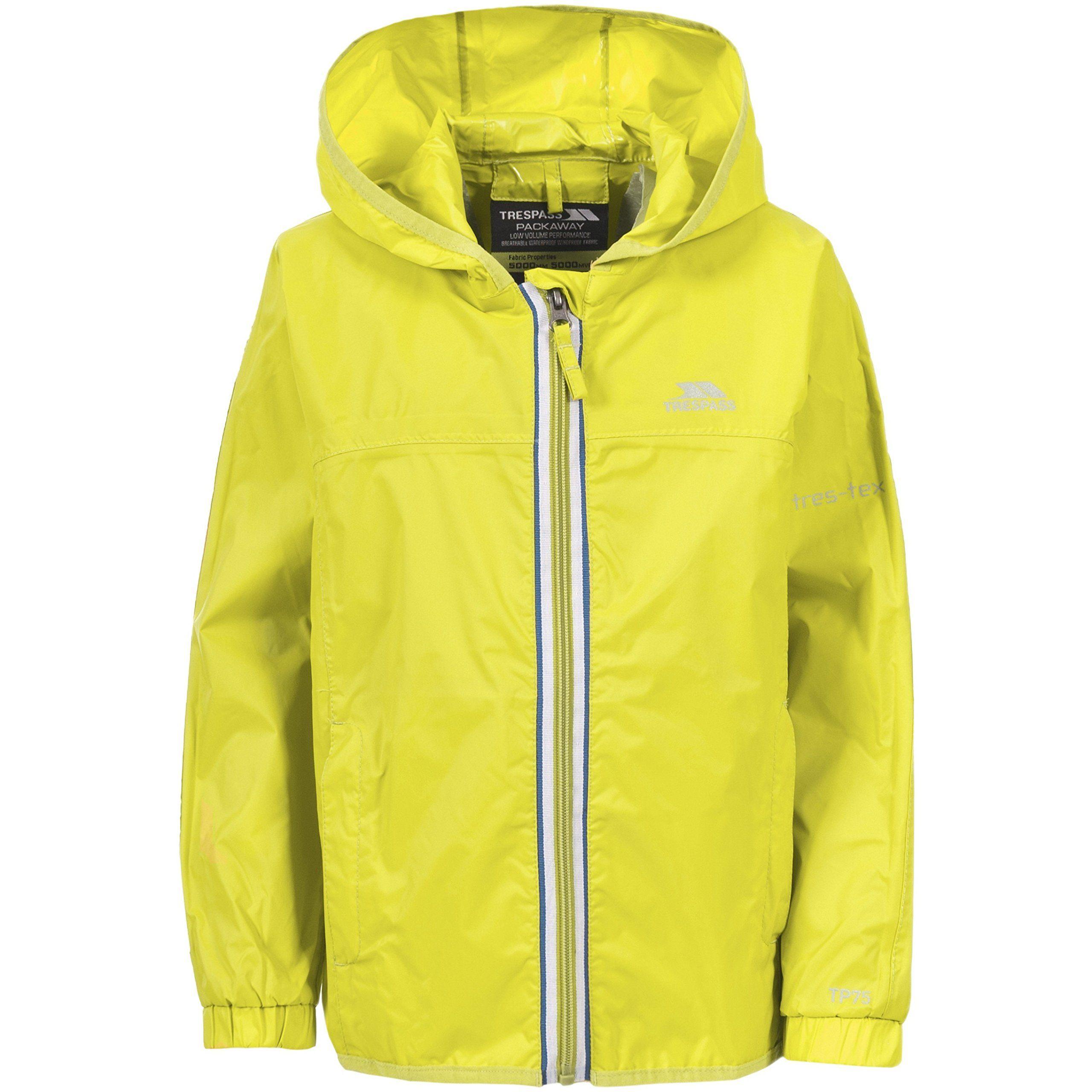 261622f43 Trespass Childrens Unisex Maris Zip Up Hooded Waterproof Jacket (11 ...