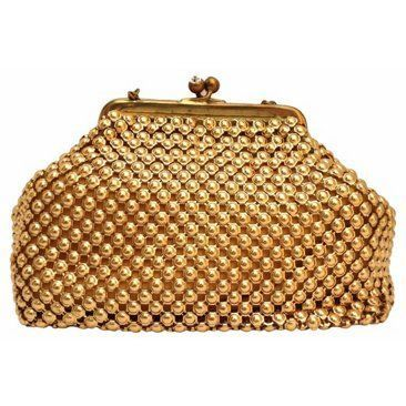 Check out this item at One Kings Lane! 1940s Goldtone Chain Purse