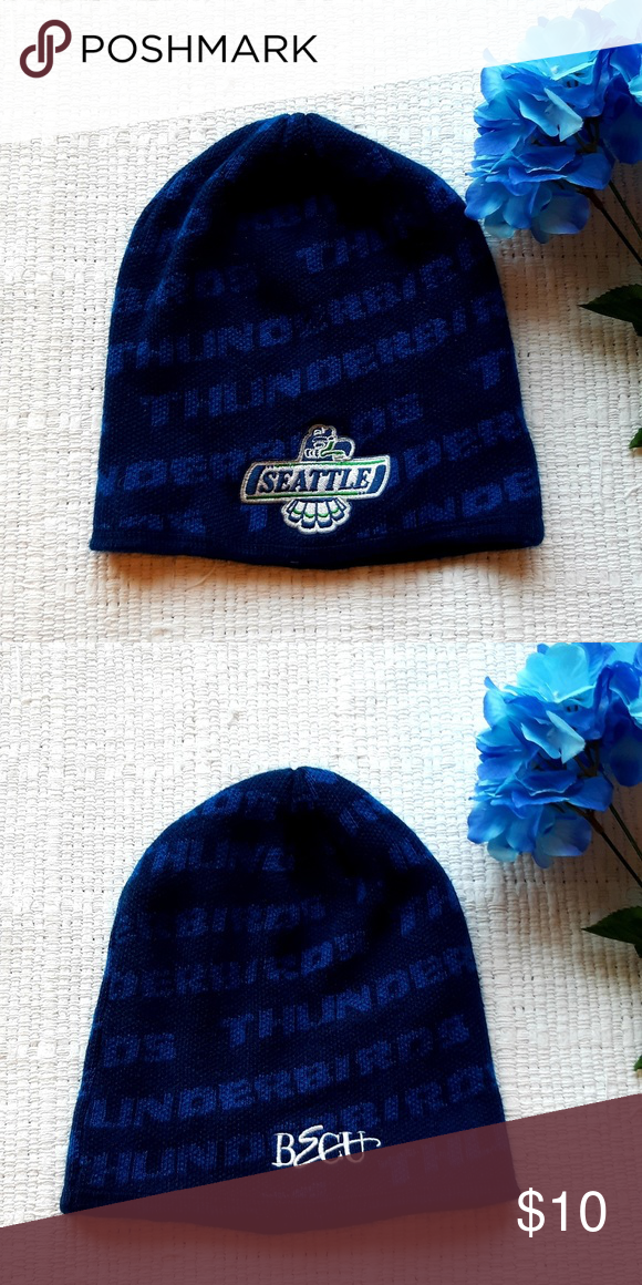 5850e379a28 Seattle Thunderbirds Blue Beanie Seattle Thunderbirds Blue Beanie  Accessories Hats