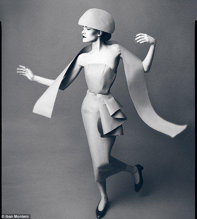 Elegant: Model Natalia Iturregui looks effortlessly stylish in a 50s-inspired shoot