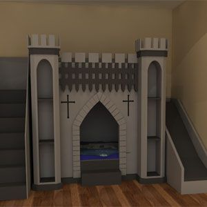 Knights Castle Bed Is Available As Bunk Bed Or With Play Area