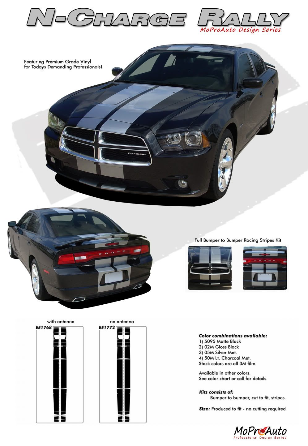 N charge rally vinyl graphics racing stripes kit for dodge charger complete racing stripes kit for the dodge charger 2011 2014 models pre cut de
