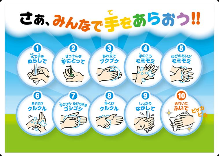 正しい手の洗い方 イラスト - Google 検索 | 正しい手の洗い方 ...