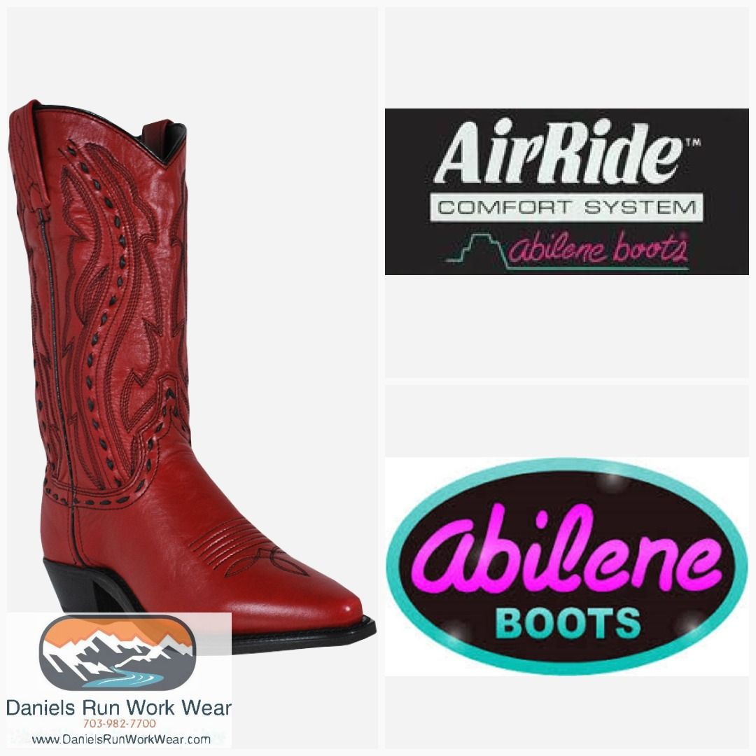 4ac351af5c8 Abilene Ladies Red Whipstitched Cowgirl Fashion Boots Item A9002 in ...