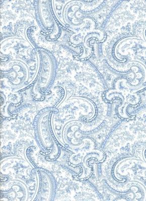 Blue Paisley Wallpaper Inside The China Cabinet For Home