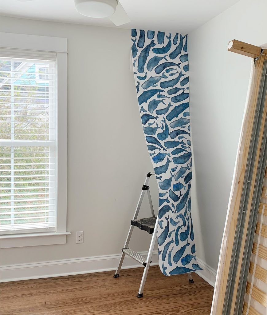 How To Install A Removable Wallpaper Mural Young House Love Removable Wallpaper Mural Wallpaper Wallpaper Crafts