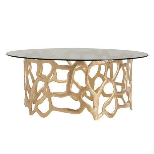 Brampton Gold Leaf 40 Inch Coffee Table Products Table Glass