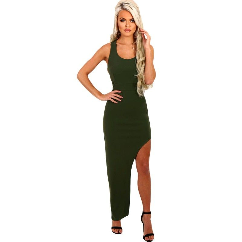 womens sexy dresses party 2017 hollow out bandage elegant strappy side  split summer night club maxi 9a219695c1e8