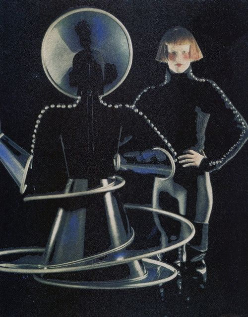 "Vogue Paris December 1997/January 1998""Karl Lagerfeld Met en Scene Oskar Schlemmer""Model: Karen ElsonPhotographer: Karl Lagerfeld"