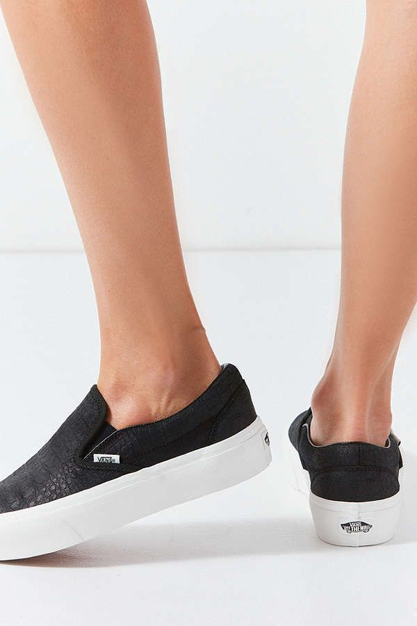88a1c7da67 Shop Vans Embossed Classic Slip-On Platform Sneaker at Urban Outfitters  today. size 8