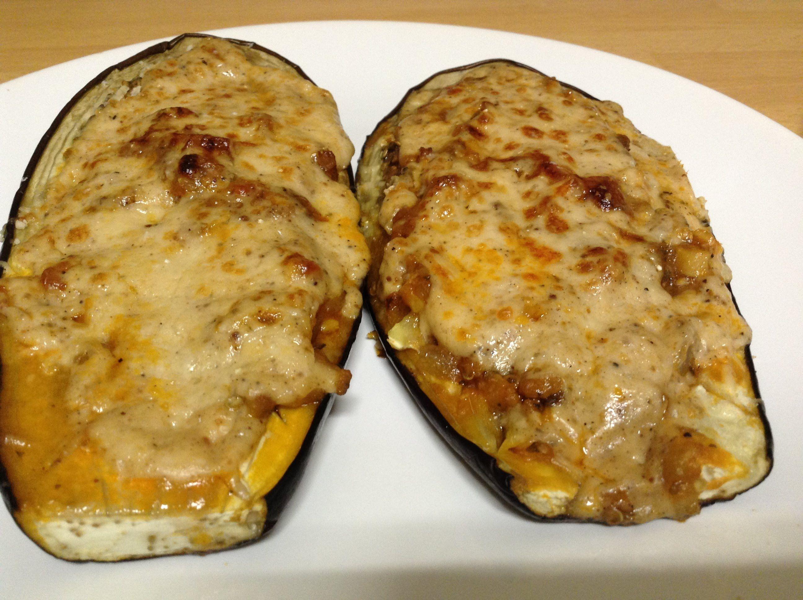 Berenjenas rellenas al horno recetas de cocina faciles y economicas snacks appetizers - Berenjenas rellenas al horno ...