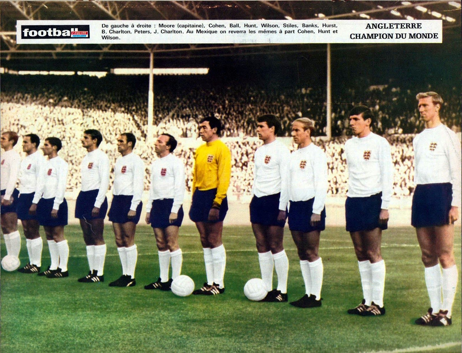 26th July 1966 England Line Prior To The Encounter With Their World Cup Semi Final England Football Team England National Football Team Football Team Pictures
