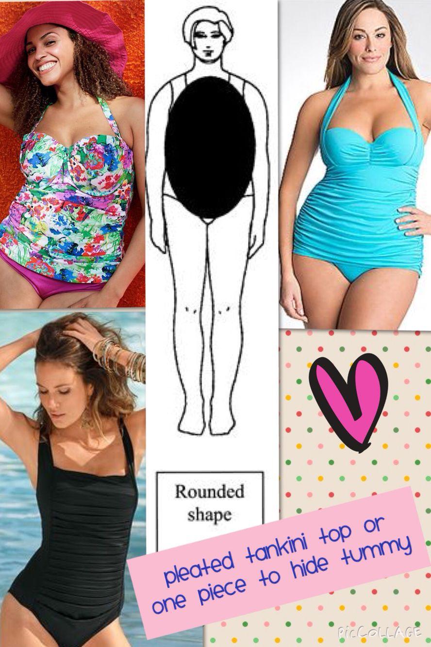 Rounded body shape bikinis