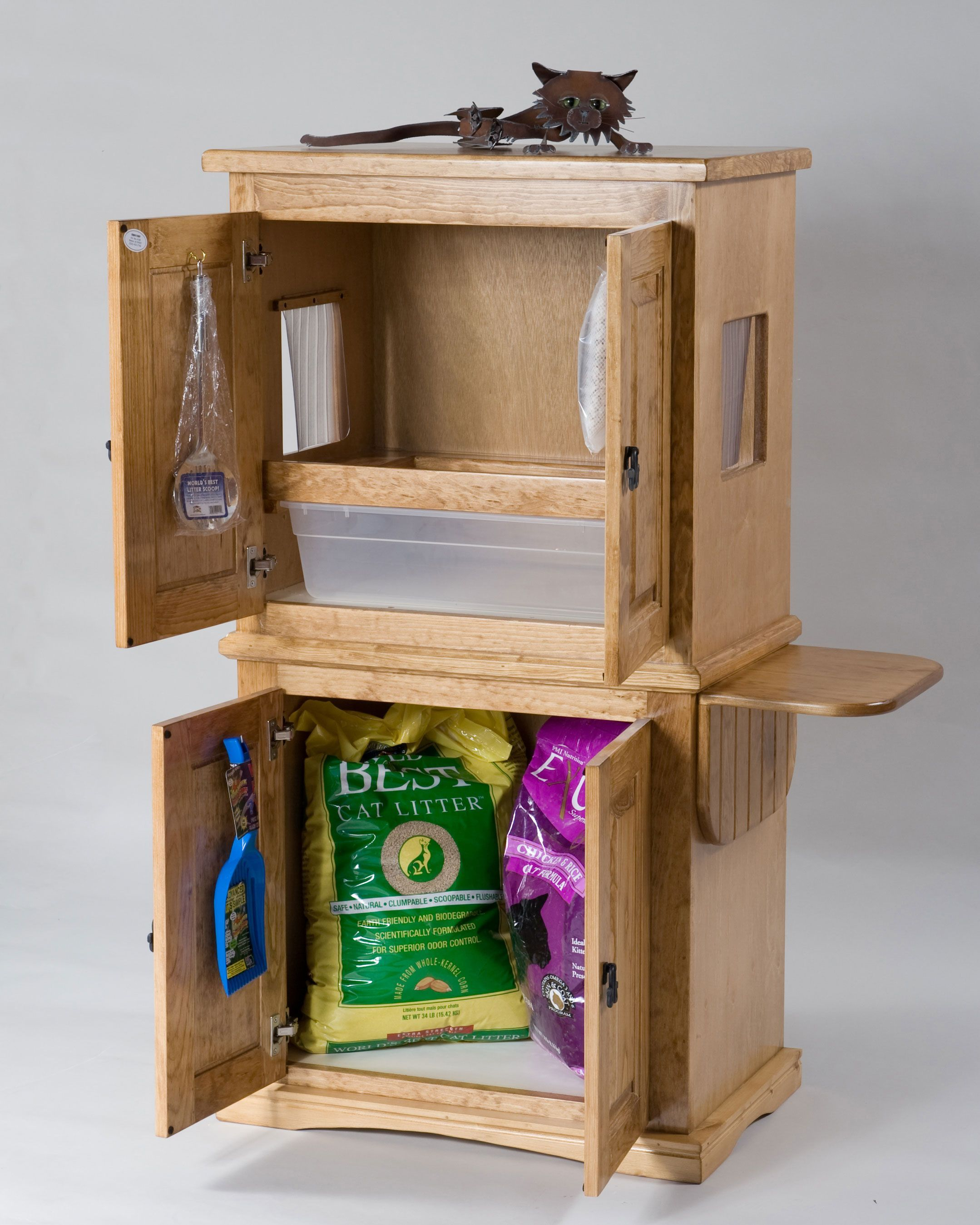 Cat litter Furniture with Storage Litter
