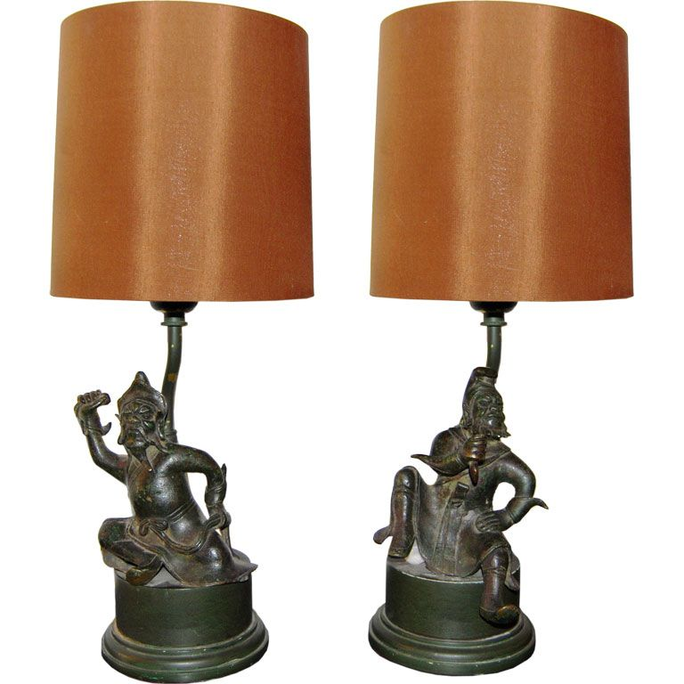 William billy haines asian warrior table lamps lamps tables william billy haines asian warrior table lamps mozeypictures Choice Image