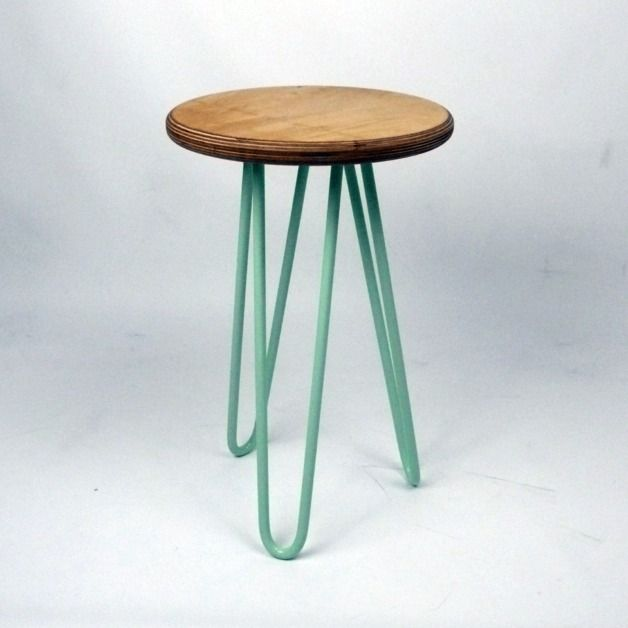 Stools – Industrial Style Stool with Hairpin Legs – a unique product by CordIndustries on DaWanda