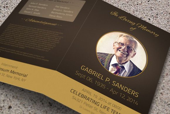 Check out Funeral Program Template - Bi-Fold by Visual Impact on - memorial pamphlet template free