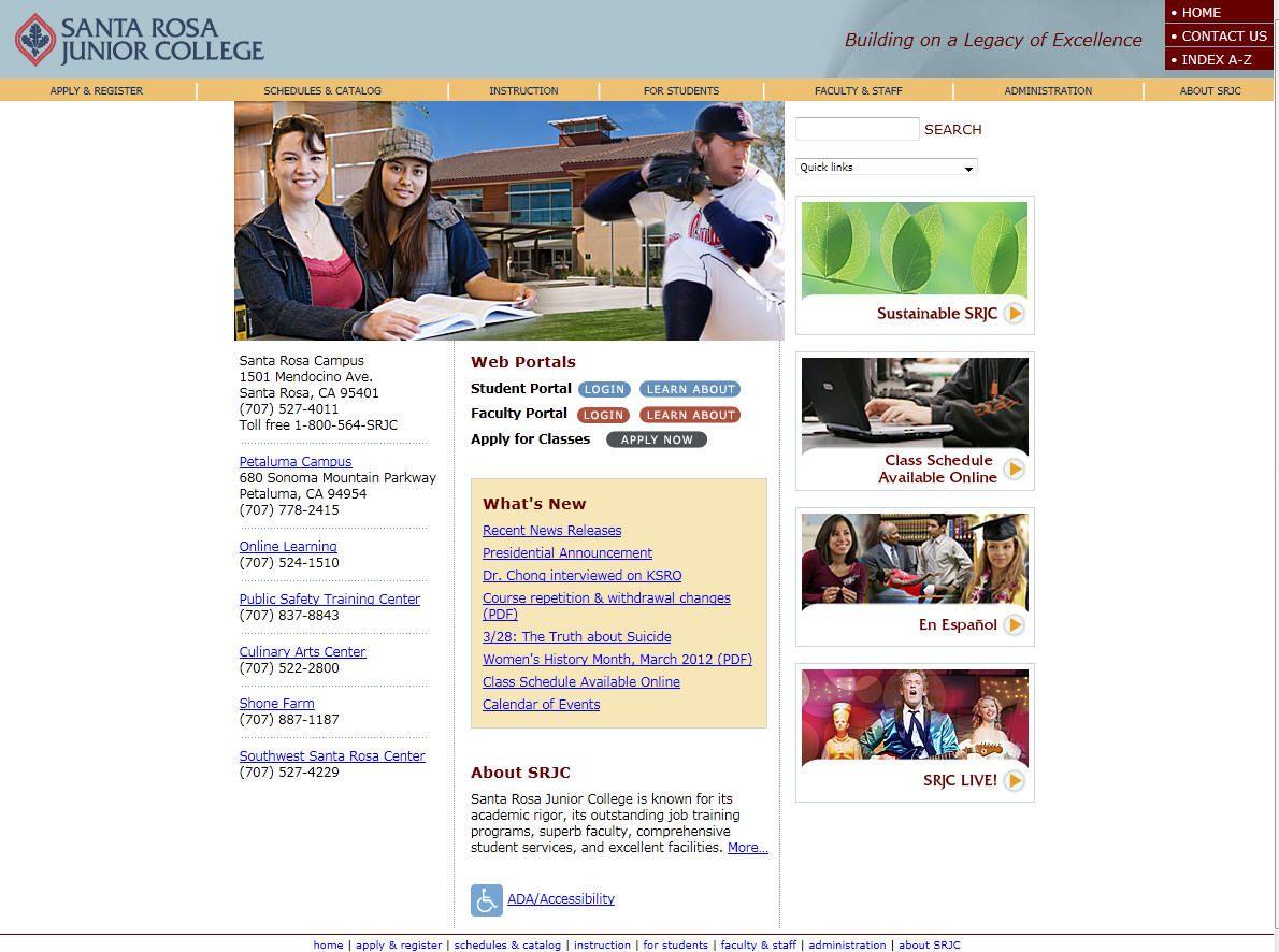 Santa Rosa Junior College College Junior Student Portal College