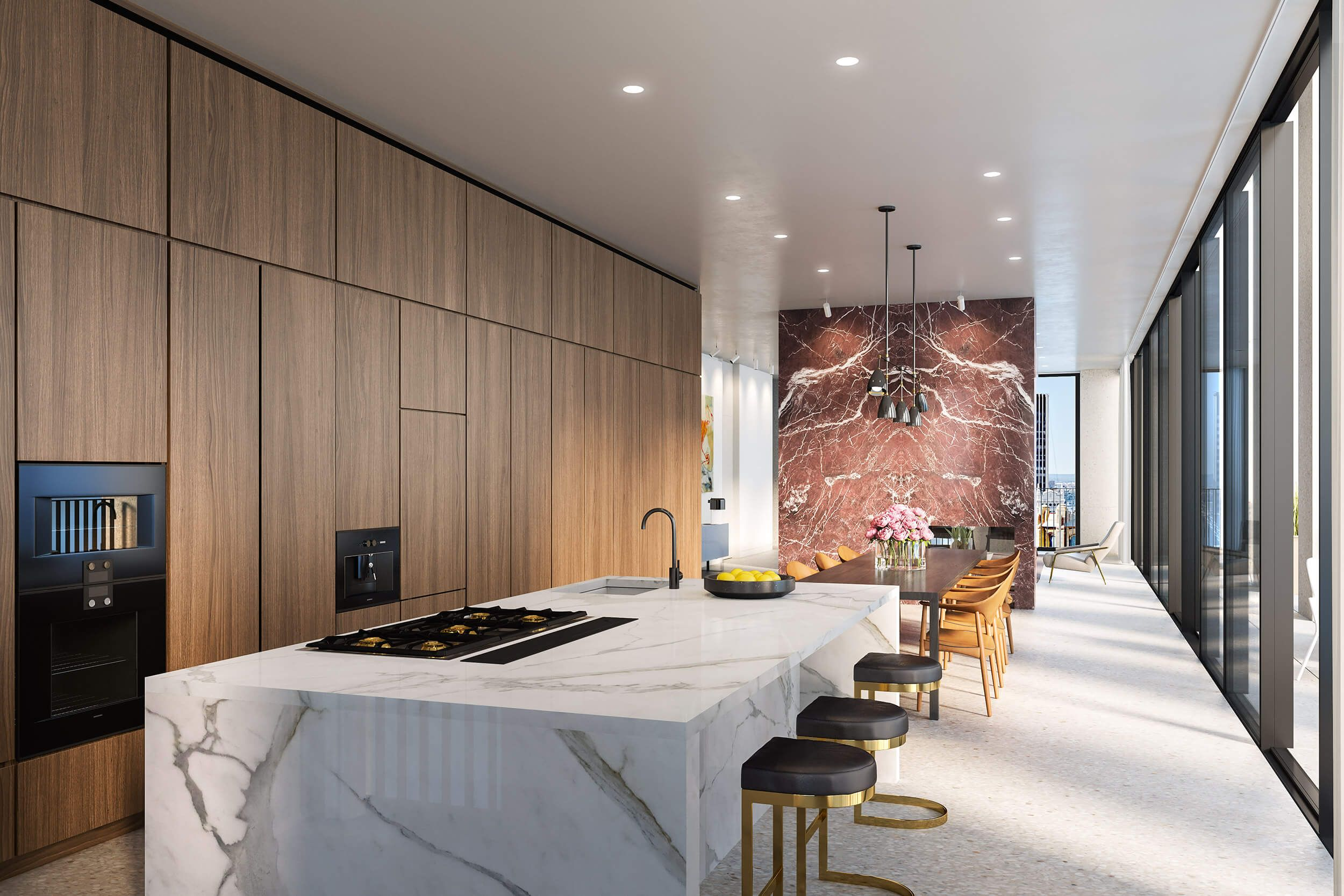 david chipperfield designed manhattan tower tops out terrazzo