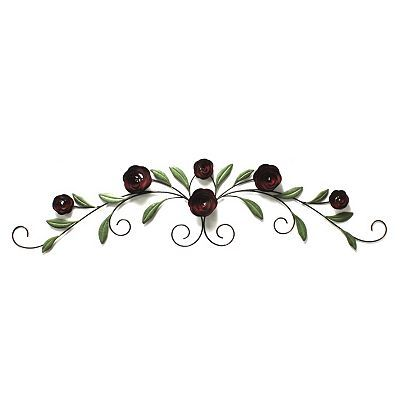 Fetco Pomeroy Roses Over The Door Metal Wall Decor For