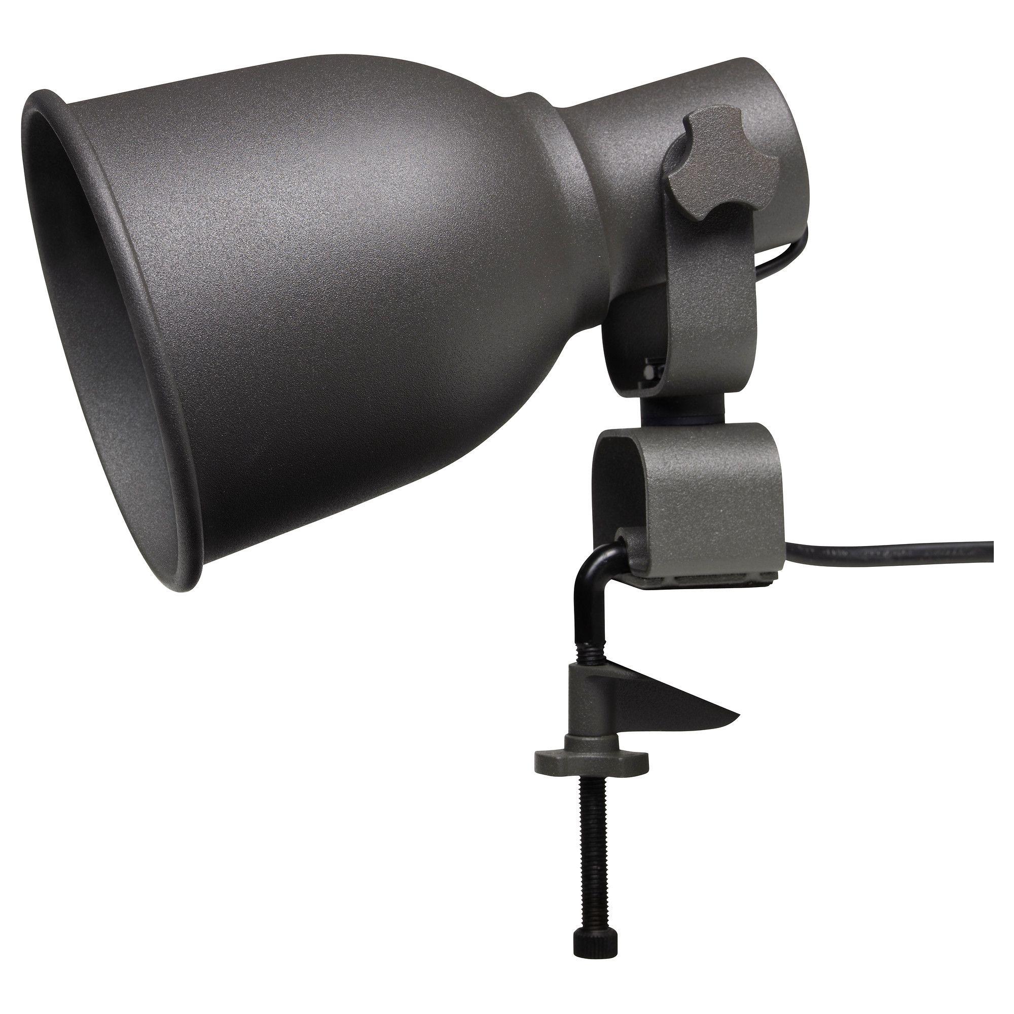 Hektar Wall Clamp Spotlight Dark Gray Clamp Lamp Ikea