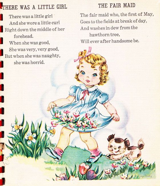 There Was A Little Girl And Fair Maid Nursery Rhymes Poems Childrens Books Illustrations Nursery Rhymes Activities