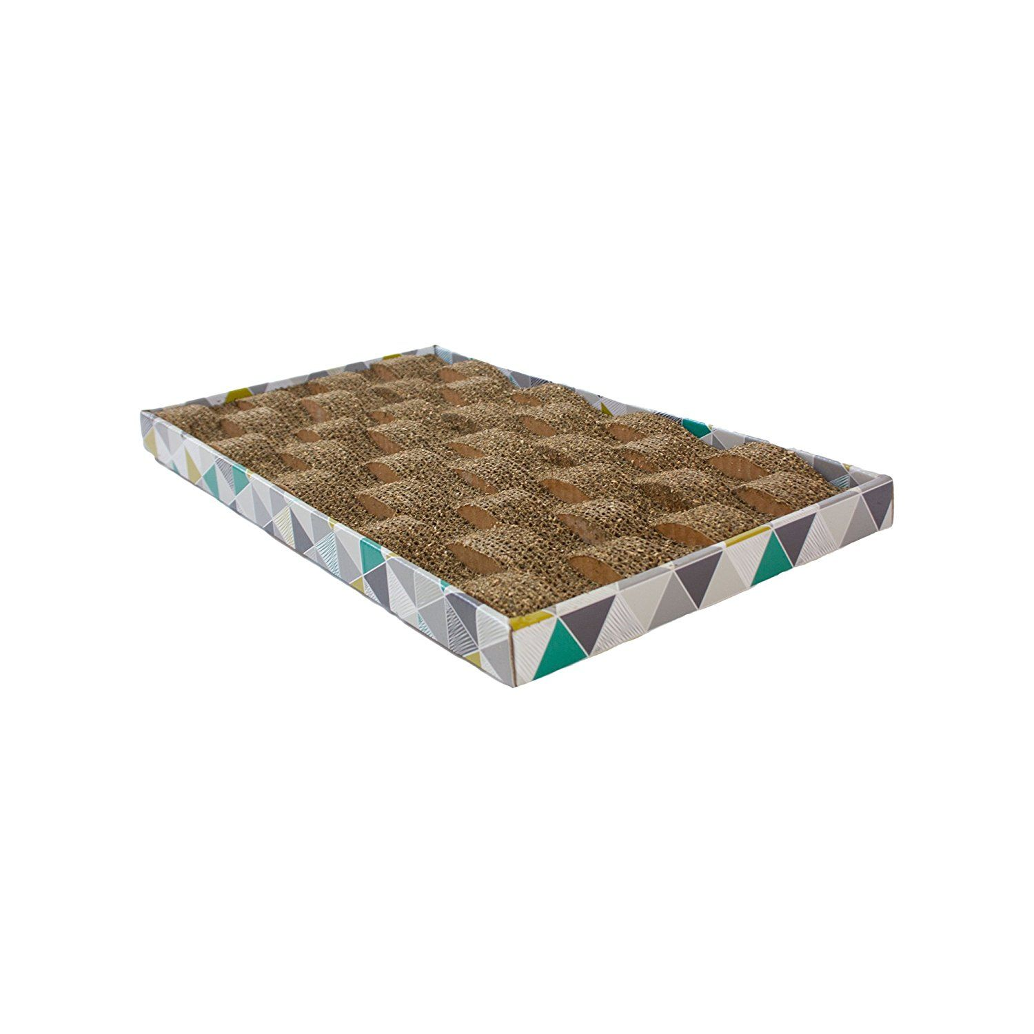 Petstages Wavy Scratcher Catnip Scratching Post Station for Cats