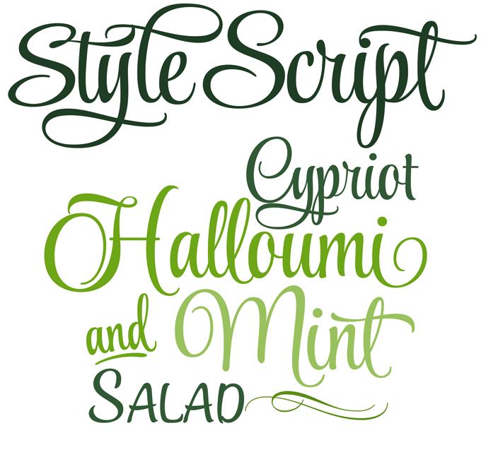 http://www.myfonts.com/fonts/typesetit/style-script/ Style Script ...