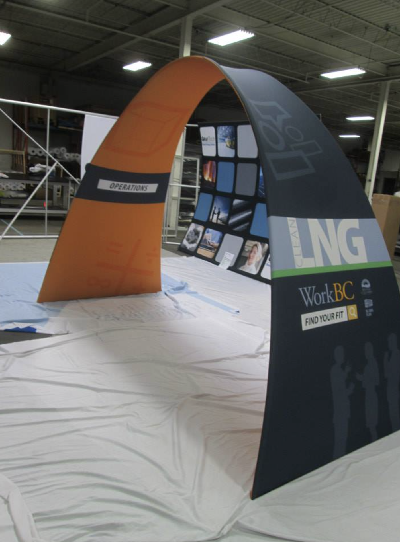 Trade Show Graphic Archway Stretch Fabric Trade Show Display  Ideal